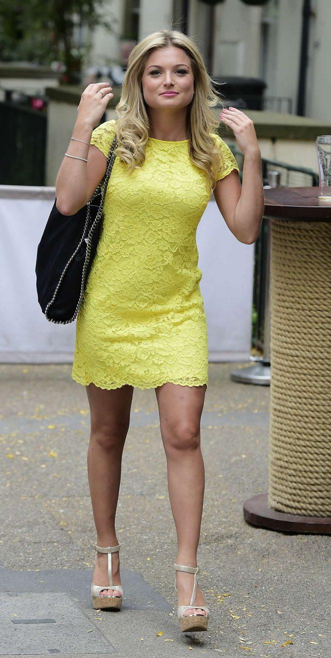 Zara Holland in Yellow Mini Dress -02