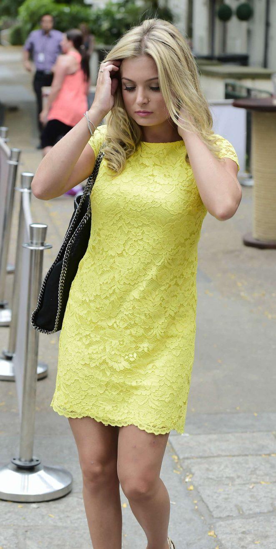 Zara Holland in Yellow Mini Dress -11