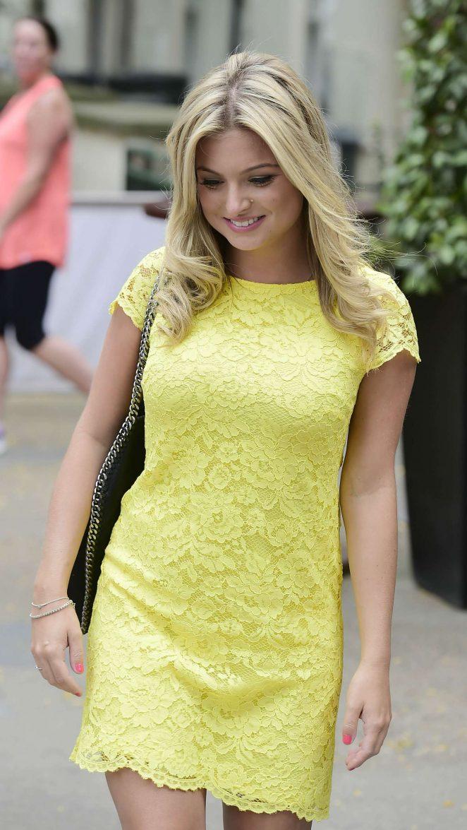 Zara Holland in Yellow Mini Dress -20