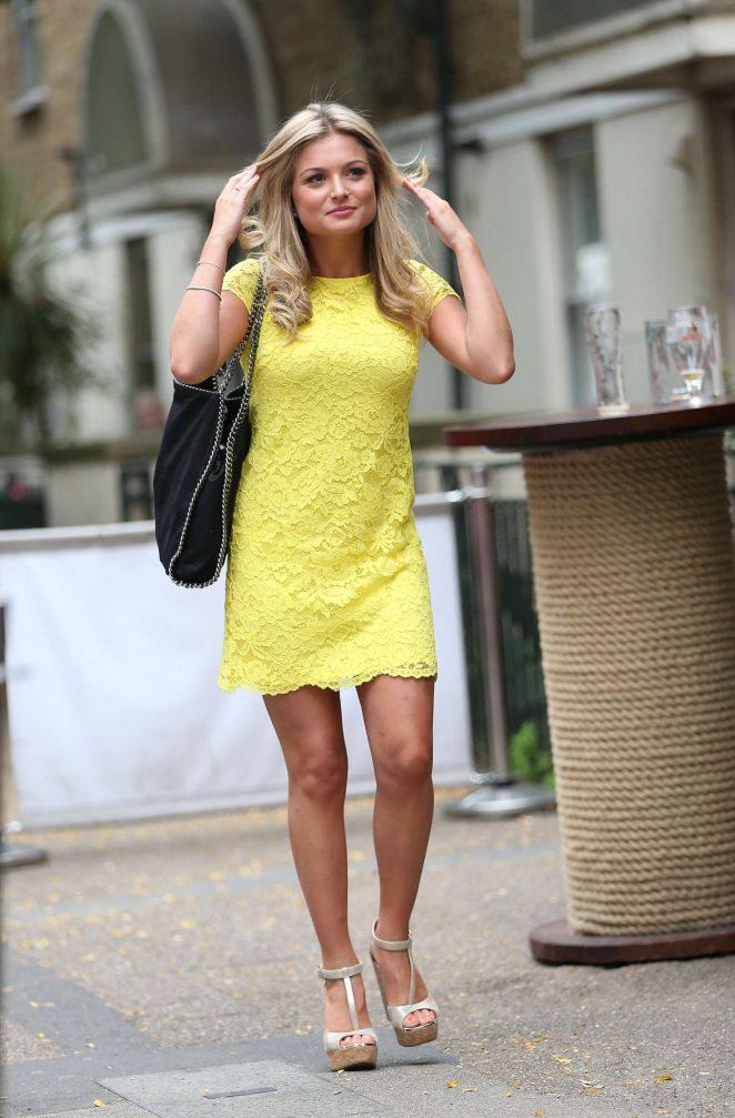 Zara Holland in Yellow Mini Dress -25