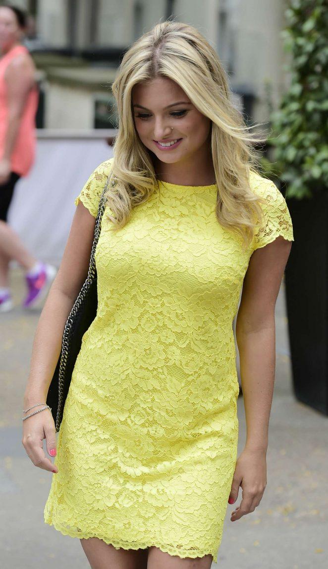 Zara Holland in Yellow Mini Dress -26