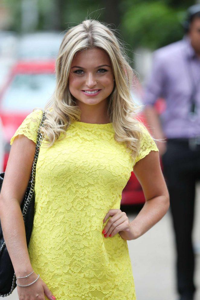 Zara Holland in Yellow Mini Dress -28