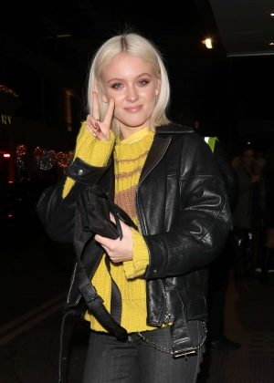 Zara Larsson at the Drama Nightclub in Mayfair