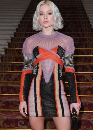Zara Larsson - Balmain Fashion Show in Paris