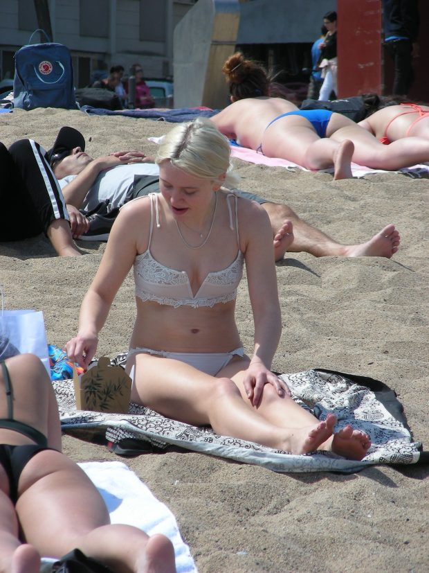 Zara Larsson: In Bikini pictured at Barcelona beach -02