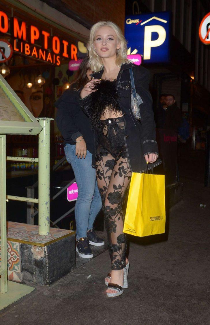 Zara Larsson: Night out in London -03
