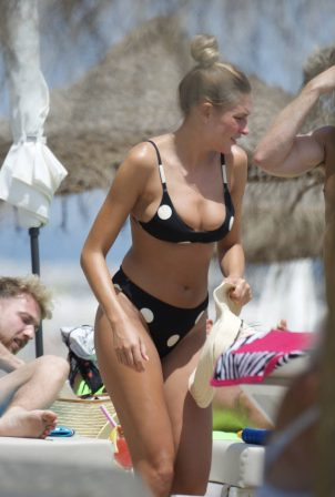 Zara McDermott in Bikini on the beach in Marbella