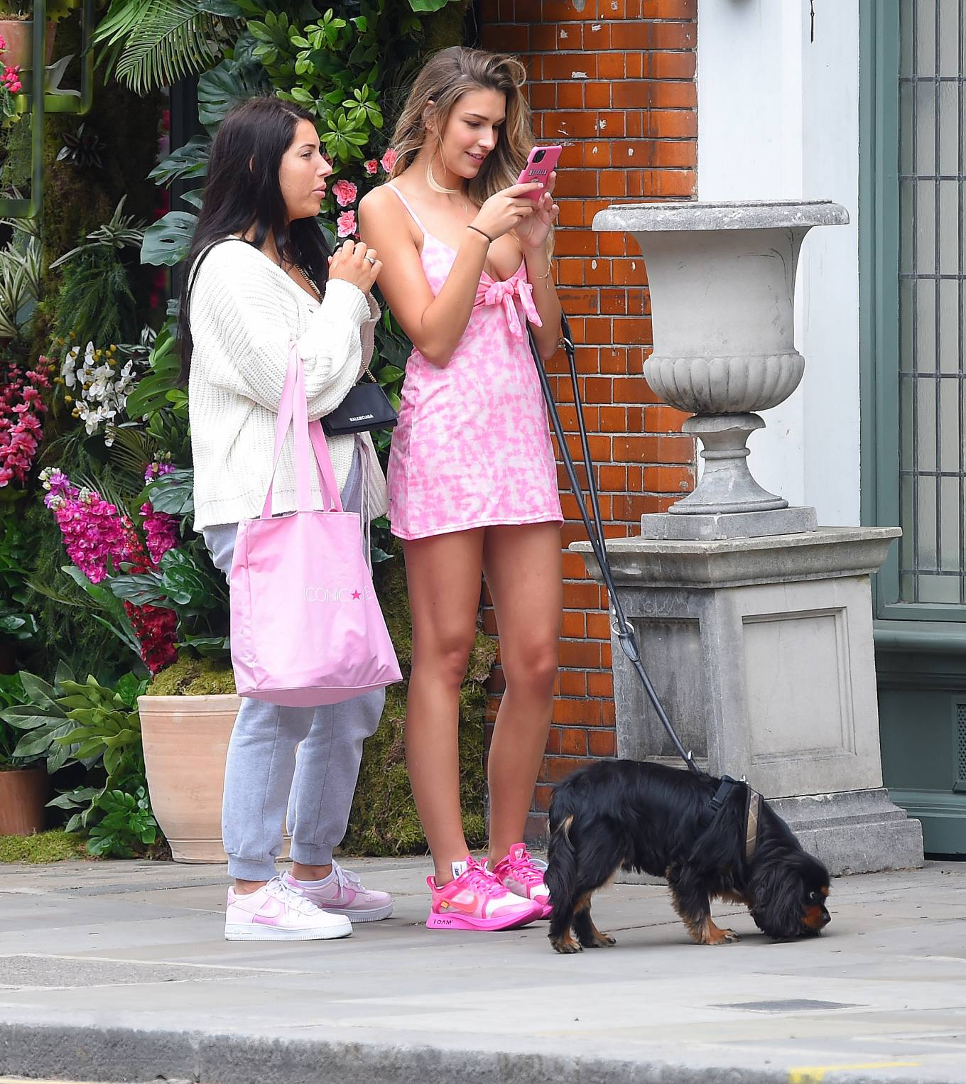 Zara McDermott in Mini Dress - Out in Chelsea