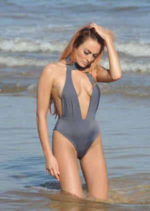 Zaralena Jackson in Swimsuit on a photoshoot in Spain