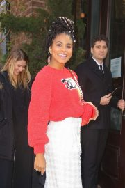 Zazie Beetz - Arrives at The Tribeca Chanel Women's Filmmaker Program Luncheon in NY