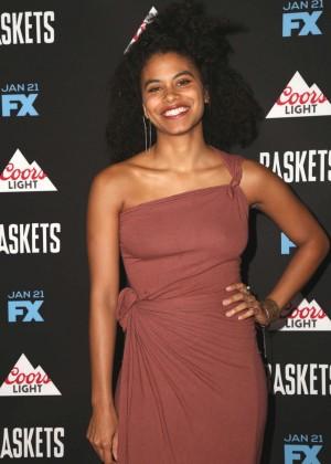 Zazie Beetz - 'Baskets' Red Carpet Event in West Hollywood