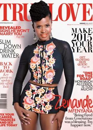 Zenande Mfenyana - True Love South Africa Magazine (January 2015)
