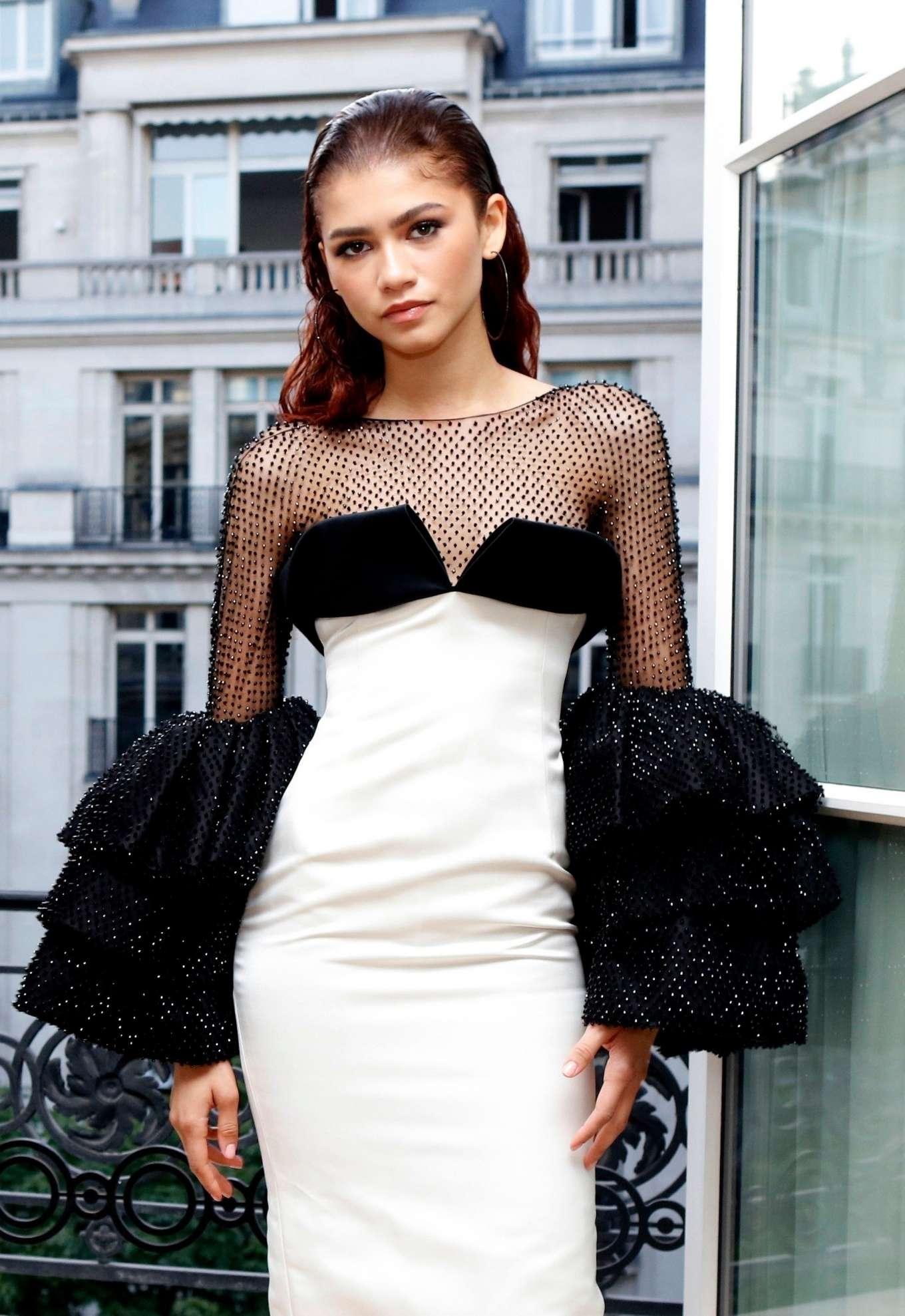 Zendaya – 2019 Paris Fashion Week – Miu Miu Haute Couture ...