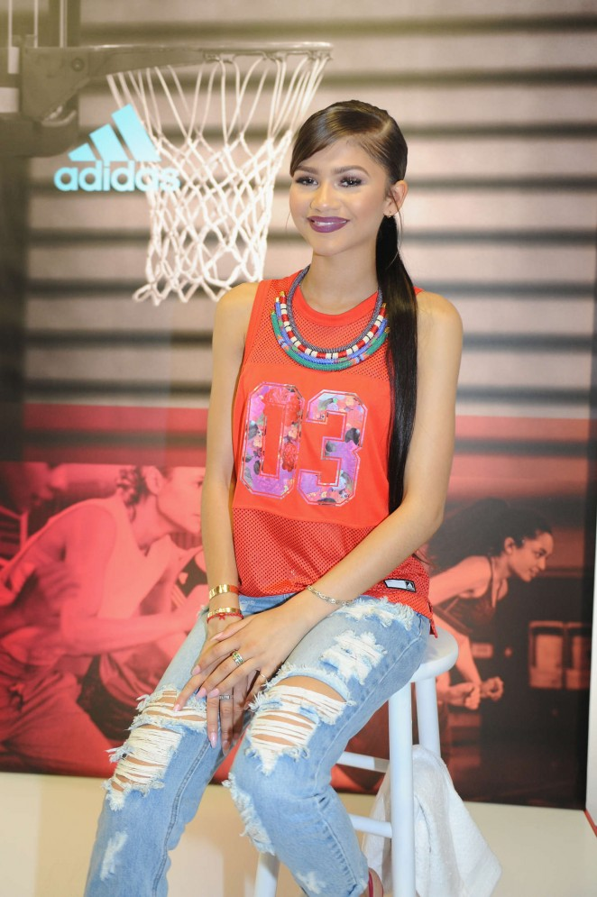 Zendaya - Adidas Unveils The Adigirl Collection in NYC