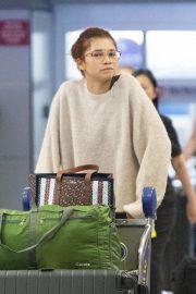 Zendaya - Arrives at JFK Airport in New York City