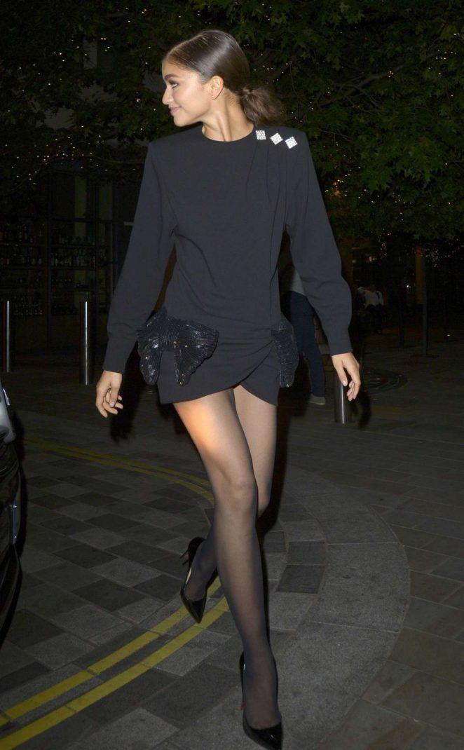 Zendaya Arrives - Seen At Her Hotel In Harrow