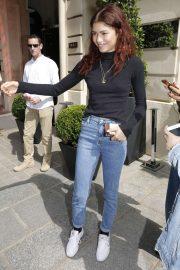 Zendaya - Arriving at her hotel in Paris