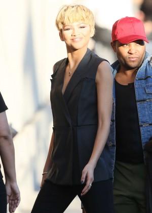 Zendaya - Arriving at 'Jimmy Kimmel Live' in LA