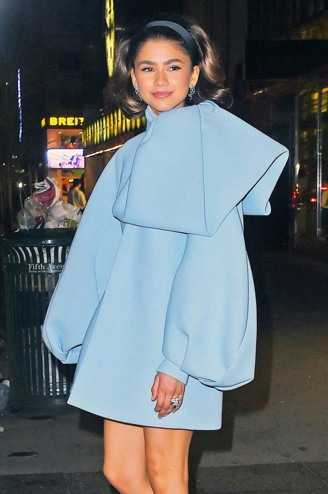 Zendaya - Arriving to the Tiffany Paper Flowers Event in New York