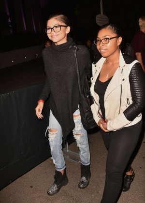 Zendaya at Janet Jackson Concert in Los Angele