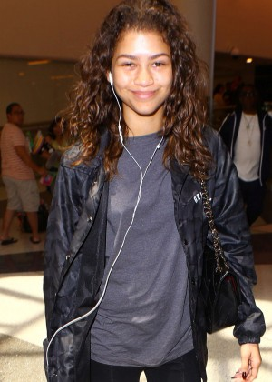 Zendaya at LAX Airport in Los Angeles