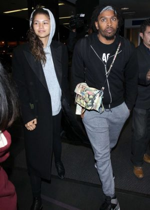 Zendaya at LAX International Airport in Los Angeles
