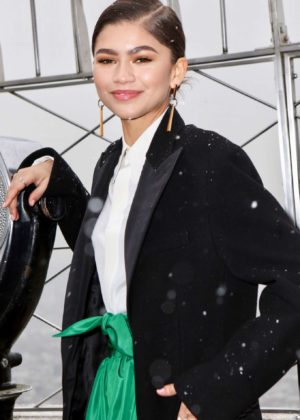 Zendaya at The Empire State Building in NYC