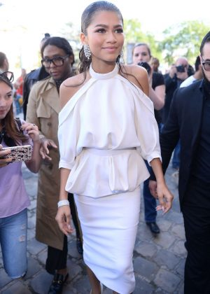 Zendaya - Attends Ralph And Russo Fashion Show in Paris