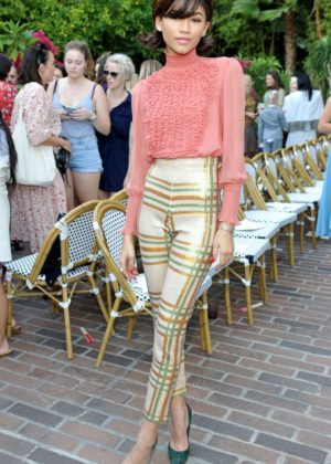 Zendaya - CFDA/Vogue Fashion Fund Show and Tea in LA