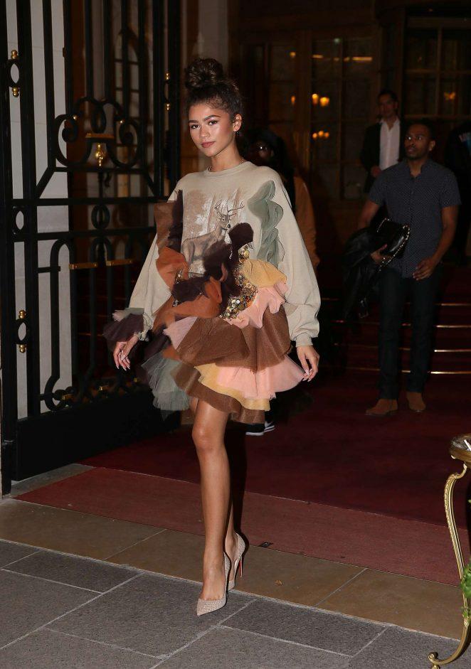 Zendaya Coleman at the Ritz Hotel in Paris