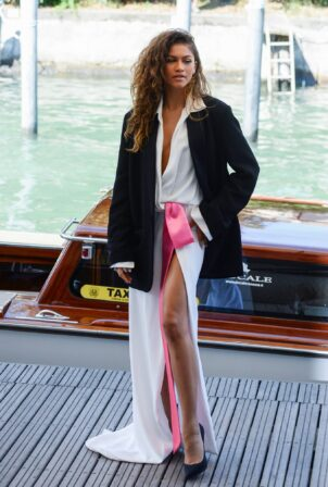 Zendaya Coleman - With Rebecca Ferguson arriving in Darsena for Day 3 of the Venice Film Festival