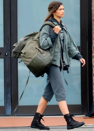 Zendaya - Filming 'Spider-Man: Far From Home' in in Venice