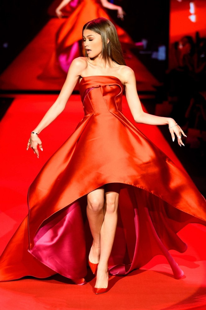 Zendaya - Go Red For Women Red Dress Collection 2015 in NYC