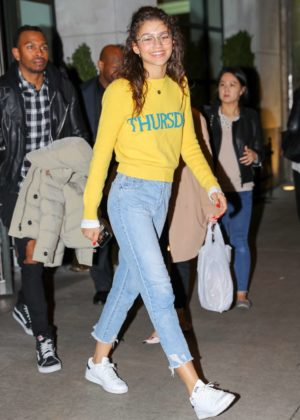 Zendaya - Heading to the Street Style event in New York City