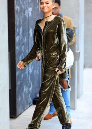 Zendaya in Jumpsuit Out in New York