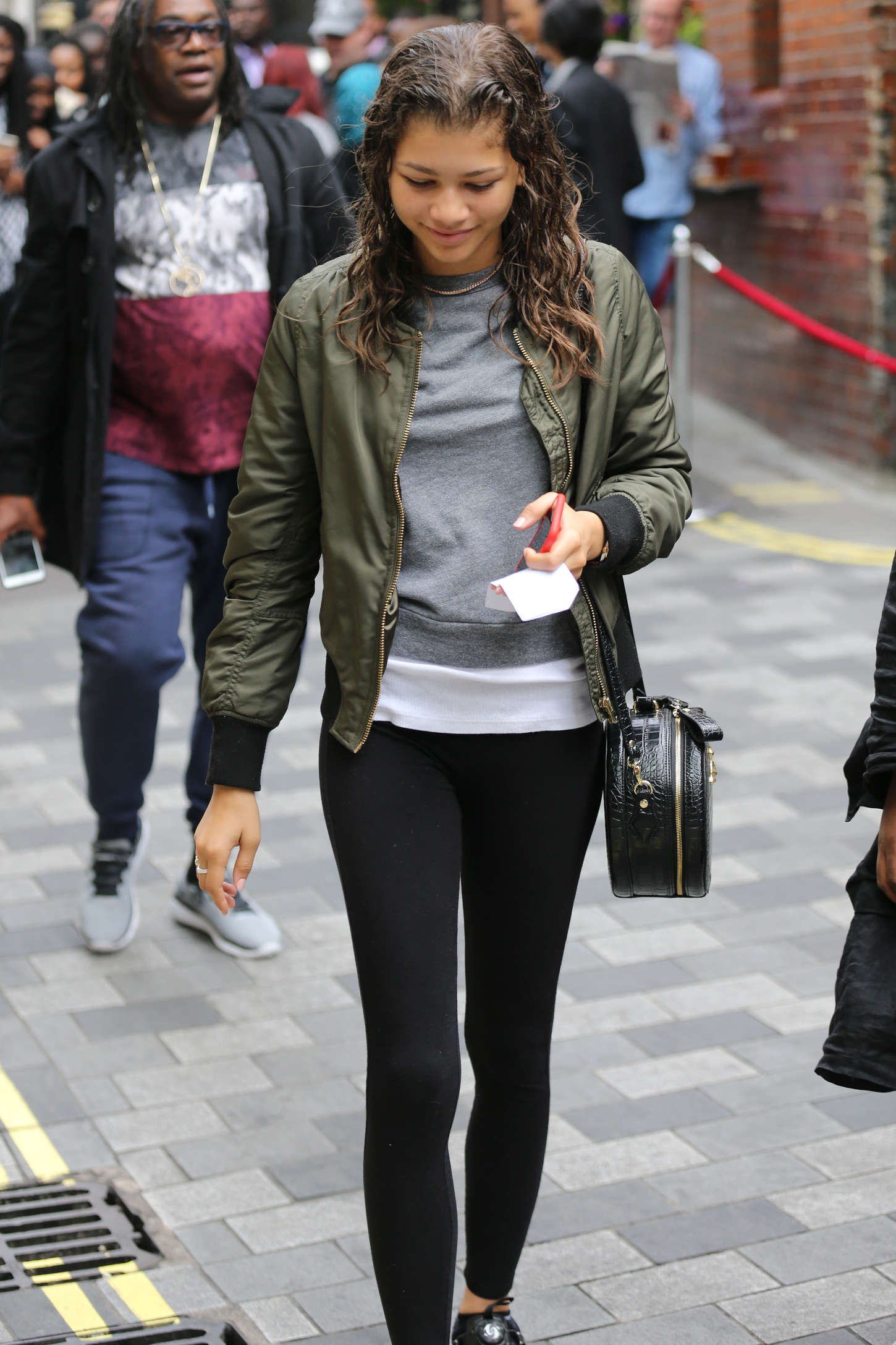Zendaya in Tights out in London