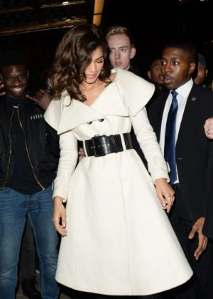Zendaya in White out in London