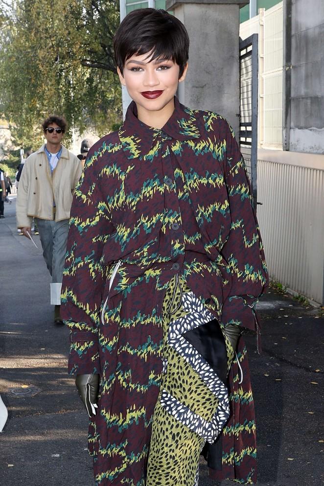 Zendaya - Kenzo Show at Paris Fashion Week in Paris