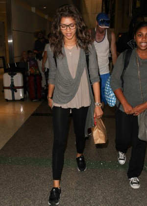 Zendaya - LAX airport in Los Angeles