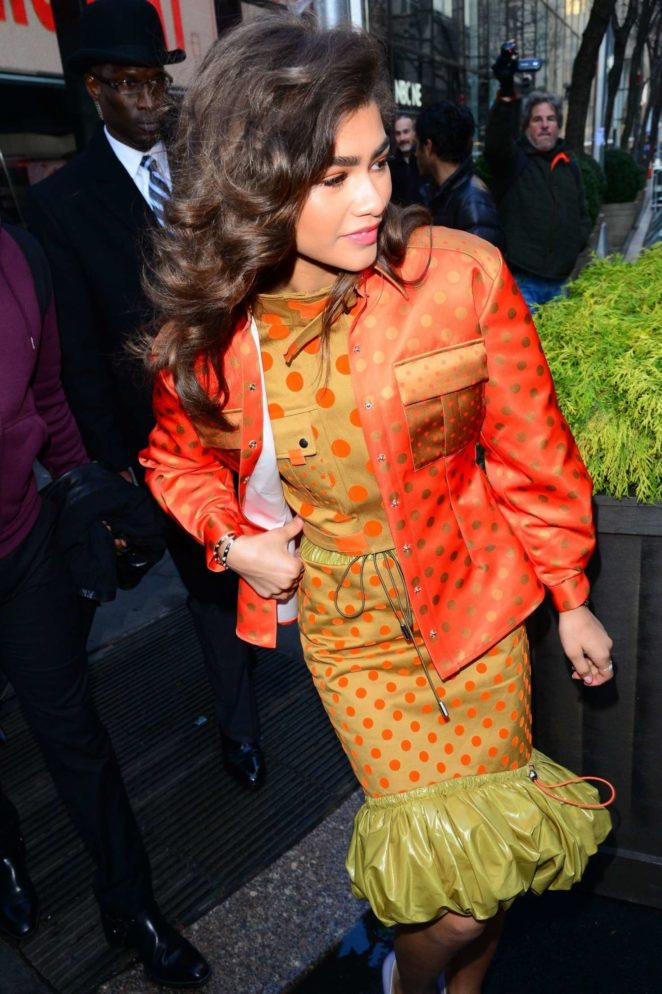 Zendaya - Leaves NBC's 'Today' show in NYC