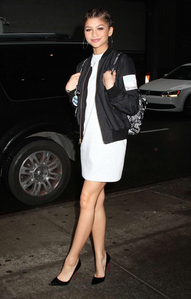 Zendaya in White Mini Dress -03