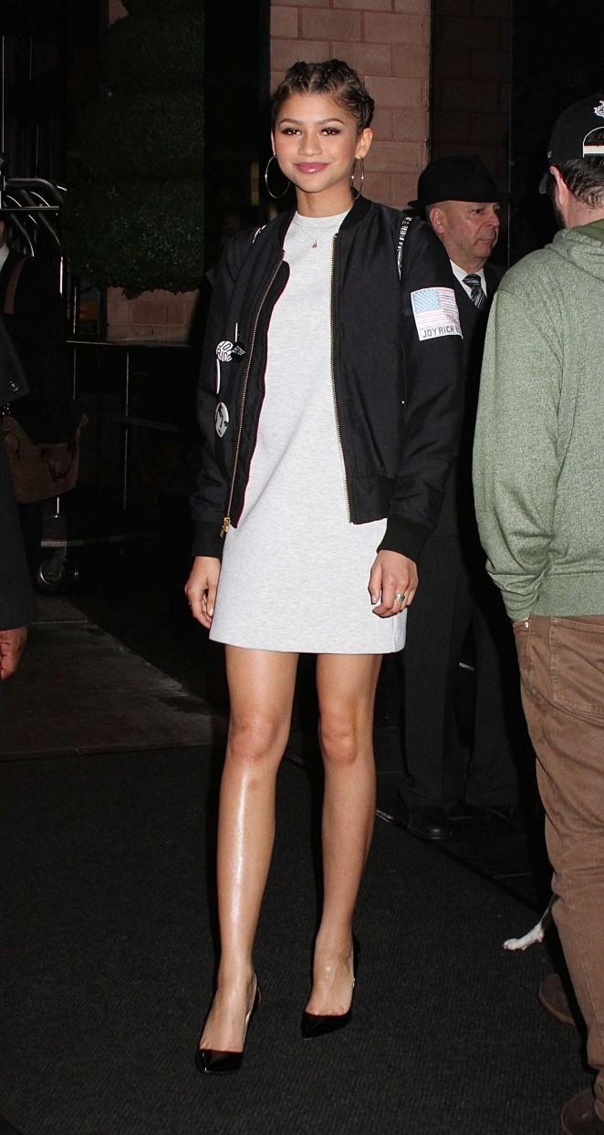 Zendaya in White Mini Dress -04