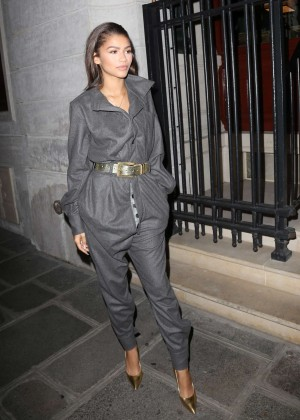 Zendaya - Leaving her hotel in Paris
