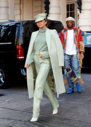 Zendaya - Leaving her hotel in Paris