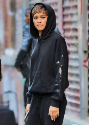 Zendaya - On the set of a photoshoot in New York