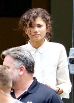 Zendaya - On the set of 'Spider-Man: Homecoming' in Atlanta