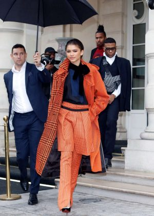 Zendaya - Out and about in Paris