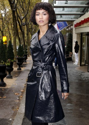 Zendaya - Out during Fashion Week in Paris