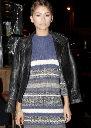 Zendaya - Out for dinner in Paris