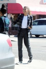 Zendaya - Seen out for a business meeting in Burbank